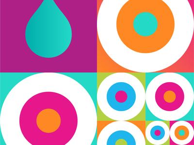 Geometric Pattern shapes retro color pattern geometric