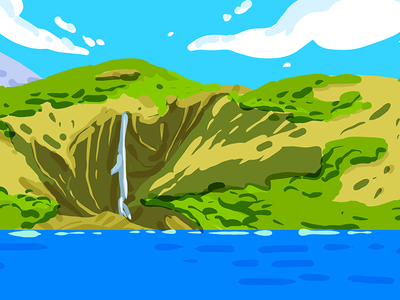 Lac d'Oo colors paysage panorama digitalart procreate rough pyrenees oo lacdoo landscape