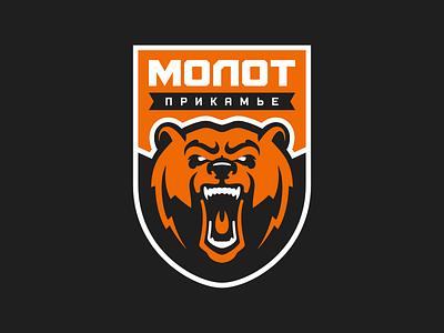 Hockey club Molot Perm logo concept nimartsok sports design sports logo mascotlogo mascot bear logo hockey logo bear logodesign logo