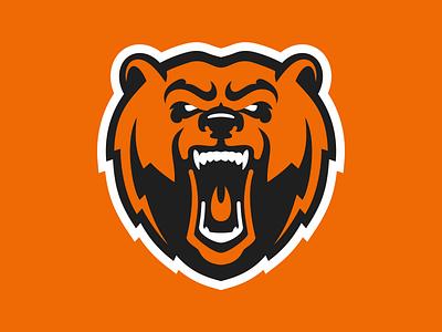 Hockey club Molot Perm logo concept logo logodesign sports logo hockey logo mascotlogo mascot bear logo bear nimartsok sportslogo illustration