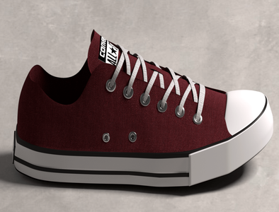 Side view of a shoe (Blender)