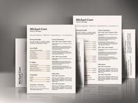 Free CV/Resume