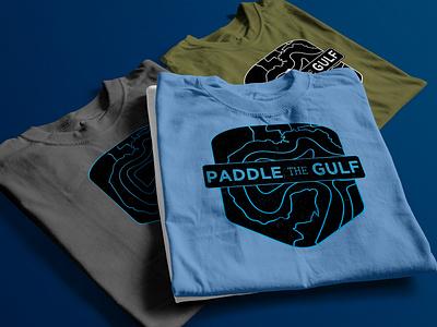 Paddle The Gulf Logos collateral mockup design branding design logo illustration branding