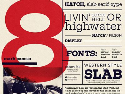 Hatch: Serif Type Specimen typography retrodesign layoutdesign layout exploration typedesign typeposter poster layout
