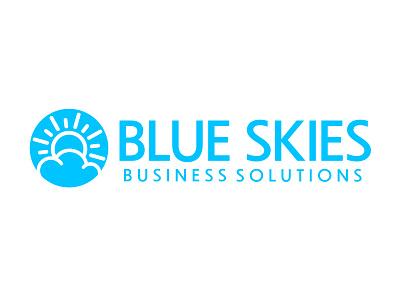 Blue Skies Business Solutions cloud logo sky logo logodesign branding business logo logo