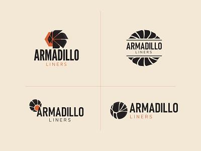 Armadillo Liners Logo Exploration logo idea logo design icon vector illustration branding design logo design branding