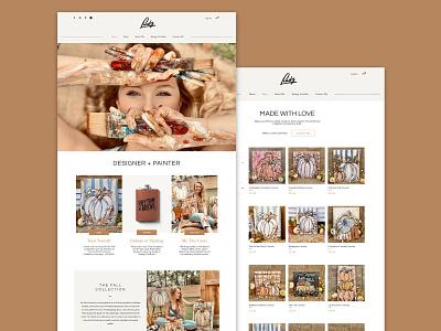lindz.art artist ecommerce web design website branding design web ux ui branding design