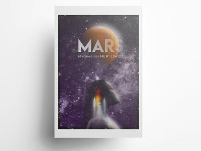 MARS Poster mars space poster design poster art design typography photoshop