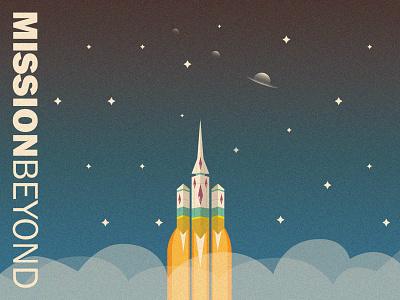 MISSION BEYOND poster art poster design vector space illustrator typography digitalart design illustration