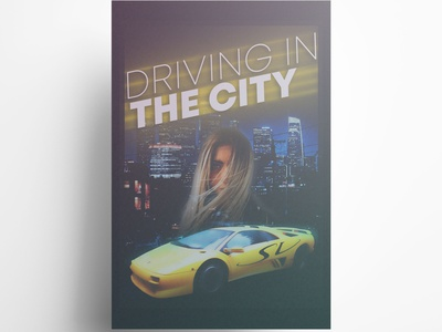 Driving in The City poster design poster art photoshop typography digitalart design