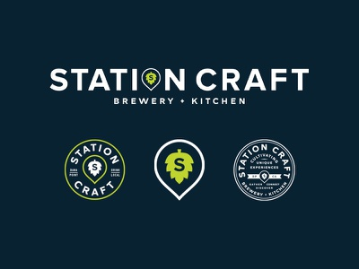 Station Craft crowler hop beer dana point restaurant brewery typography logo branding