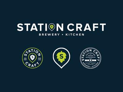 Station Craft crowler hop beer dana point restaurant brewery typography logo branding