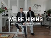 UNSUNG STUDIO jobs job orange county california san clemente web designer designer employee hiring