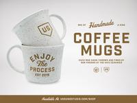 Enjoy The Process Mug process drinkware mug design mug coffee cup coffee handmade branding classic typography