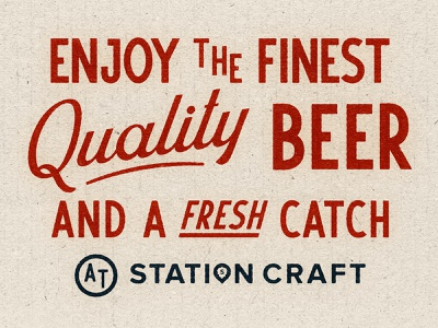 Station Craft Exploration station craft dana point restaurant branding beer branding beer fish antique sign painter vintage signage typography