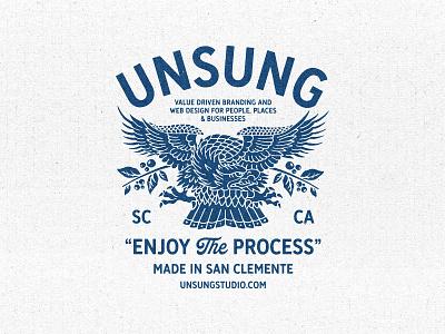 Unsung Shop Tees san clemente unsung design studio shop tee studio eagle apparel vintage branding illustration typography