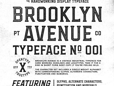 Brooklyn Avenue bold transit sports branding industrial vintage headline font typeface typography
