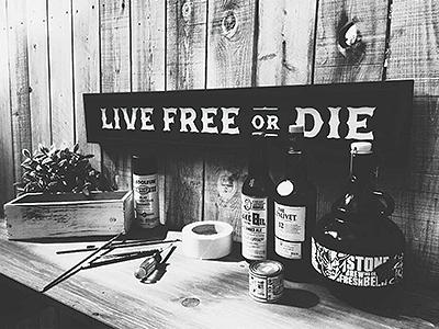 Be Free american western signpainting handpainted freedom wood vintage handmade signage typography