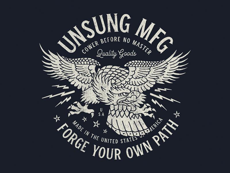 Eagle Tee usa lightning iconic classic vintage typography illustration apparel tee eagle