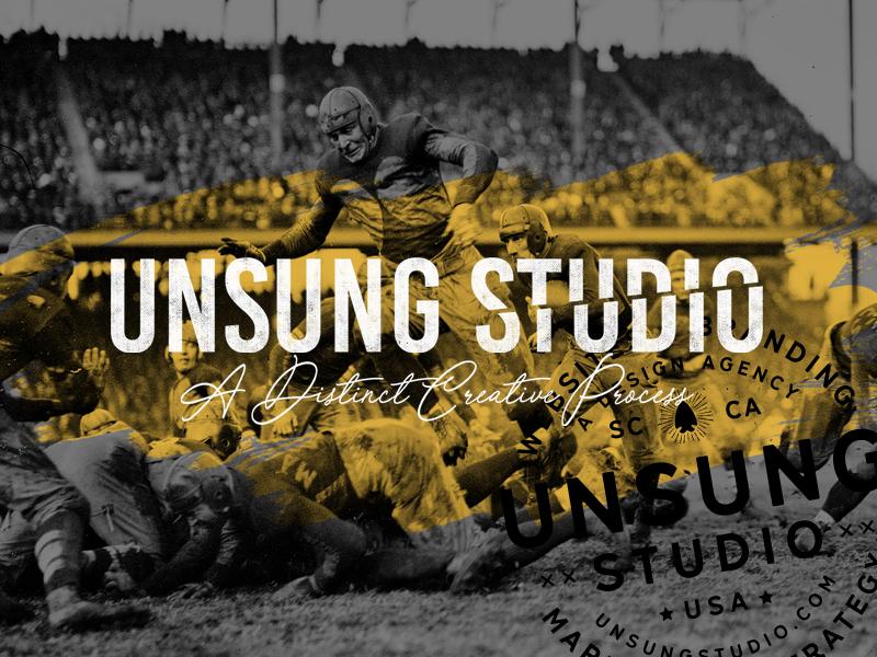 UNSUNG STUDIO wordpress marketing typography branding website web design unsung agency launch