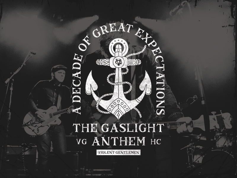 The Gaslight Anthem tshirt apparel nautical typography illustration vintage distressed classic rope anchor
