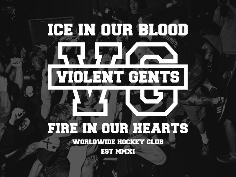 VGHC typography classic athletic vghc hockey hardcore
