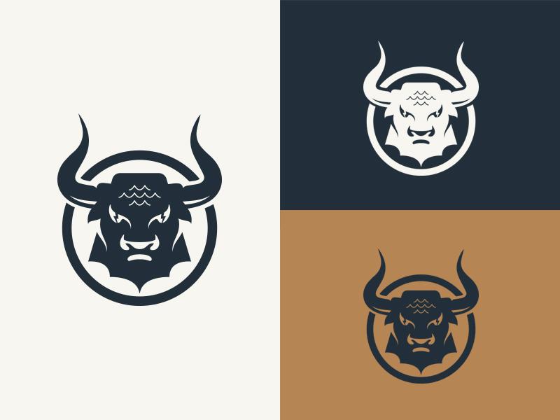 Bull Branding icon vector design classic horns logo branding illustration bull logo bull