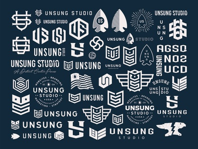 Exploration unsung vector design logo branding illustration typography