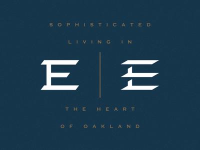 Eeez logo branding hotel custom lettering lettering e logo letterform typography
