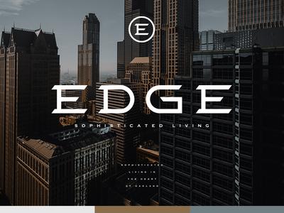 Edge Branding edgy angular sophisticated residential custom typeface letterforms logo vector typography branding