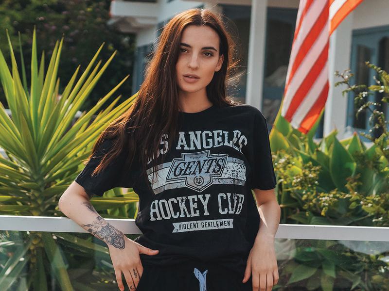 LAHC athletic t-shirt design typography hockey logo violent gentlemen kings hockey la kings