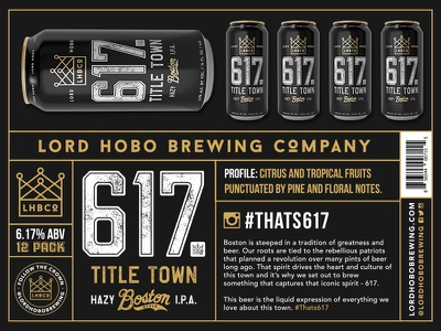 617 - Title Town fenway park boston typography packaging design beer can beer branding beer packaging branding