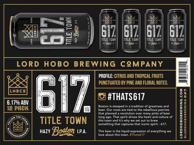 617 - Title Town fenway park boston typography packaging design beer can beer branding beer packaging branding