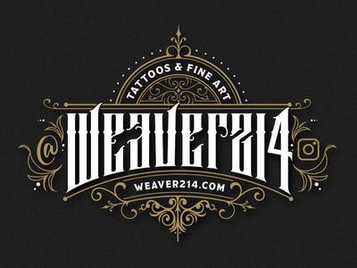 Weaver Lockup tattoo artist tattoo vector handmade logo branding illustration typography