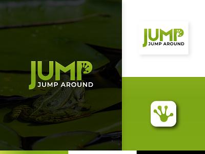Jump Jump Around frog logo animal vector simple modern realestate app icon logo mark logo design identity icon design branding