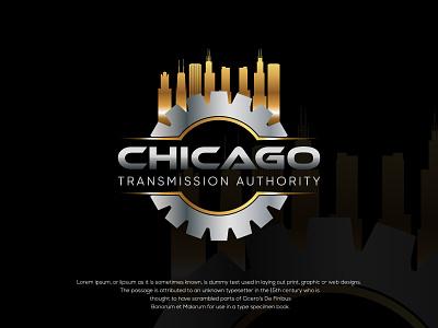 Chicago Transmission Authority repair shop logo design design logo car service gear fix car bugs branding automotive automobile auto