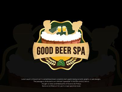 GOOD BEER SPA vector branding spa mascotlogo vintage badge vintage font vintage logo beautysalon beauty logo beauty illustration design logo design logo