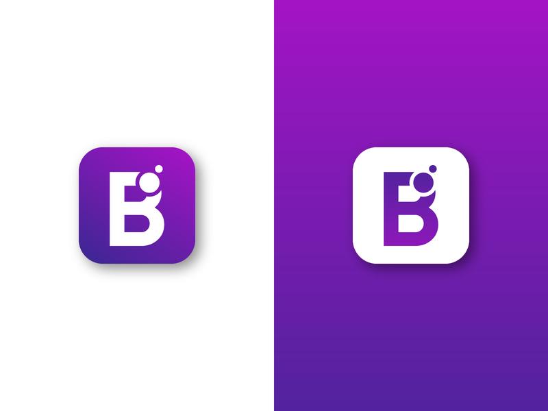 B LETTER LOGO gradient professional logo lettermark logo trend logo passion corporate design b mark b letter logo logos graphicdesign logotype design app icon vector logo logo design branding