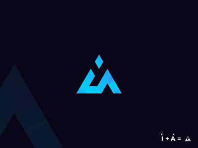 I + A Logo Mark logo inspiration logo concept letter i letter a logo type minimalist logo graphic design design logo mark modern logo logo trend vector logo logo design