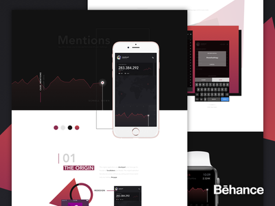 Mentions - Project summary [behance] track hashtags socialbakers insidebakers ios mobile study case behance