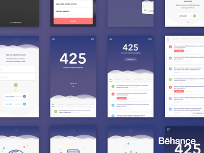 Notifications - Project summary [behance] insidebakers cards notifications ios project summary study case