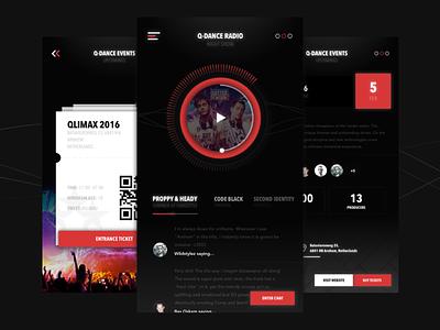 Q-dance [Radio/Events] 3d motion video player music radio app ios events hardstyle q-dance