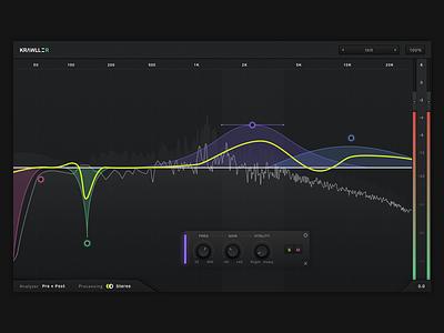 Krawller Vitality EQ equalizer eq wave knobs knob app desktop component rtas vst au audiounit