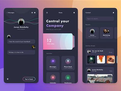 Enterprise Connect android ios app task message messages manager management company control connect enterprise