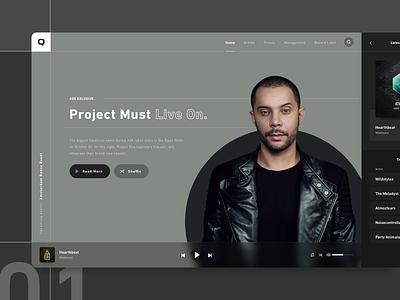 Artists Management & Event Organizing parts blocks khaki releases player music app minimal events artistmanagement management artists