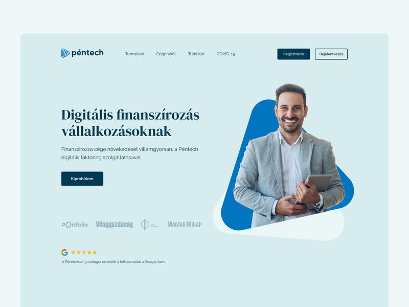 Pentech ReDesign webdesign finance app finance ui hero pentech fintech
