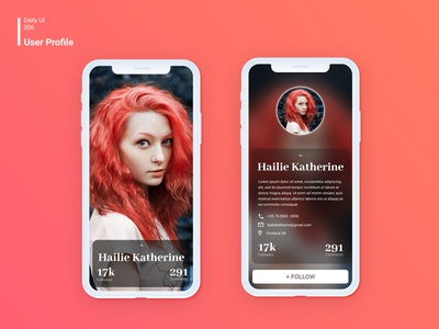 Daily UI 006 User Profile user profile profile design profile mobile ui design daily ui 006 dailyui006 daily ui dailyui