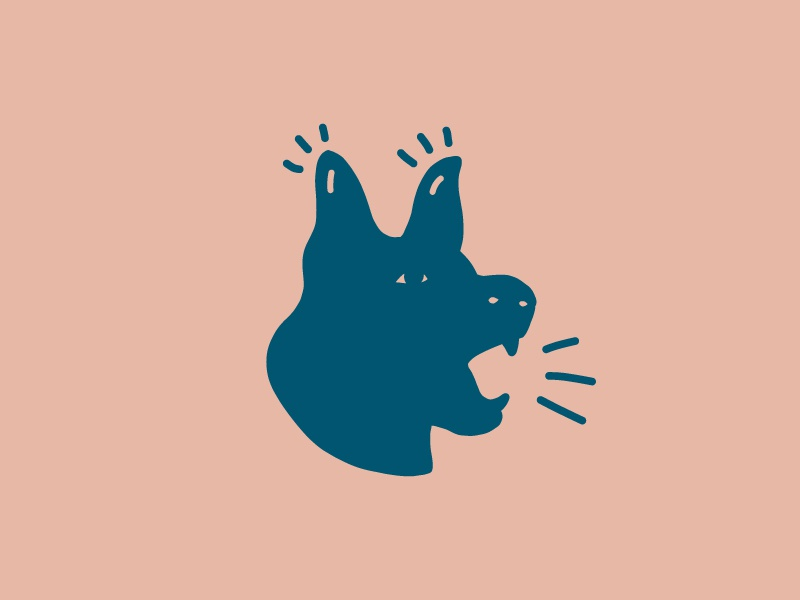 Personal Branding woof illustration drawing simple branding blue bark dog icon logo