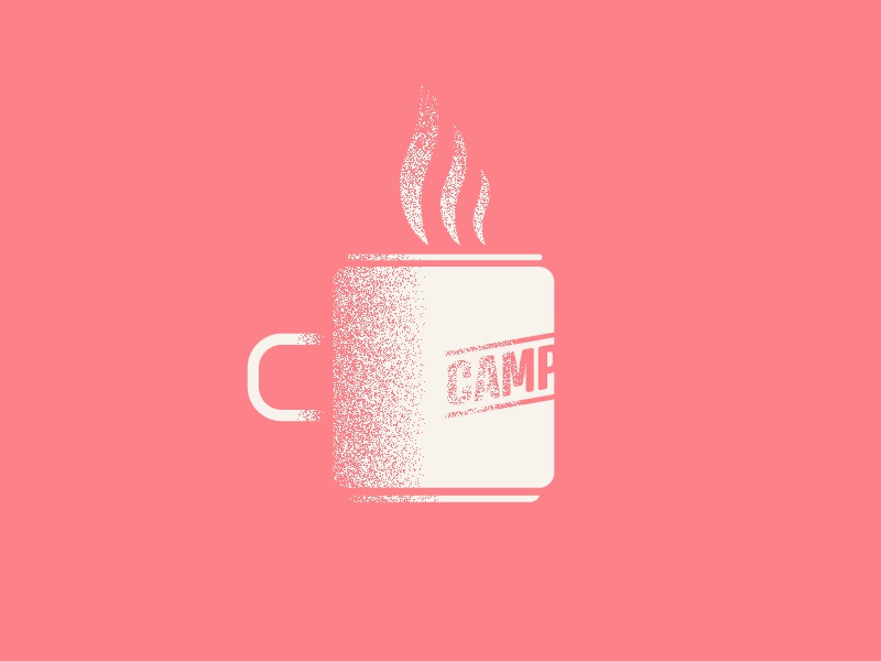 Camp Mug Icon camp mug camping simple logo one color illustration design icon