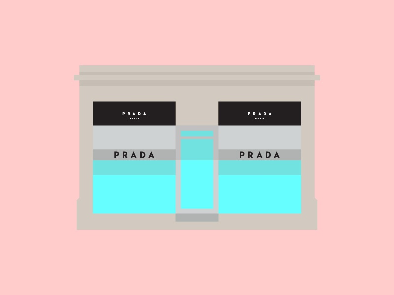 Prada Marfa prada marfa west texas west desert texas marfa prada vector design simple digital illustration